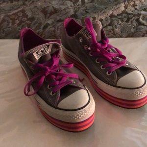 Converse fun layered sneakers
